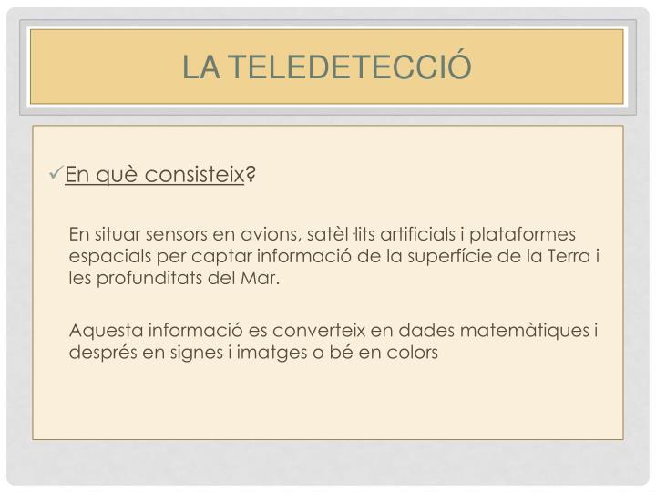LA TELEDETECCIÓ