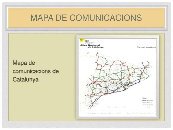 Mapa de comunicacions