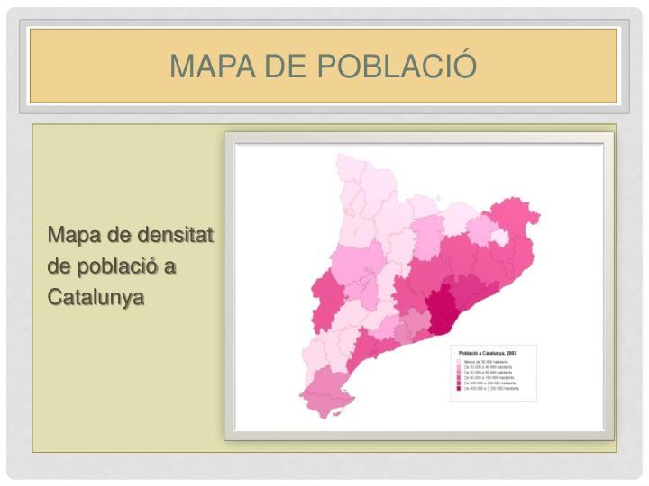 Mapa de població