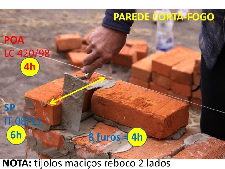 PAREDE CORTA-FOGO