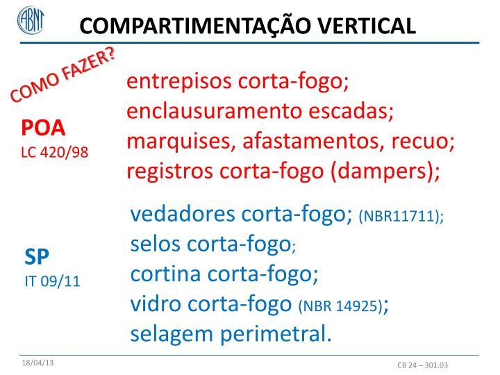 COMPARTIMENTAÇÃO VERTICAL