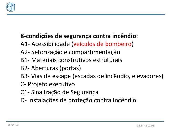 8-condições de segurança contra incêndio