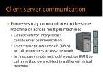 client server communication