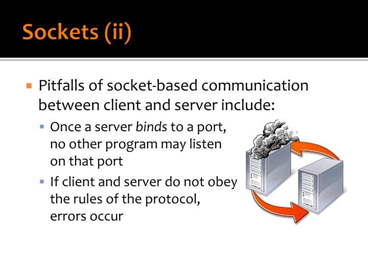 Sockets (ii)