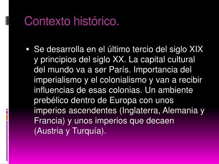 Contexto histórico.