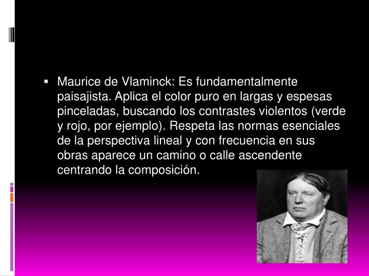 Maurice de