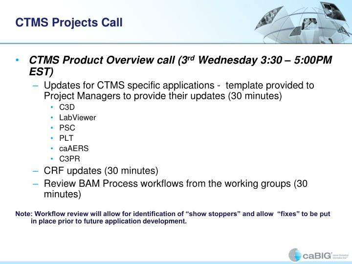 CTMS Projects Call