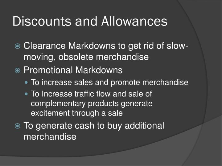 Discounts and Allowances