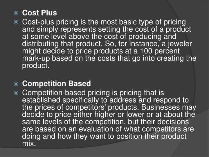 Cost Plus