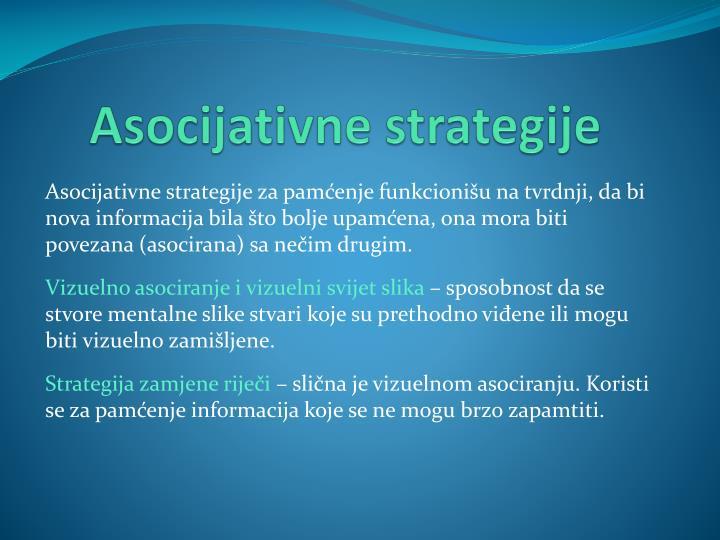 Asocijativne strategije