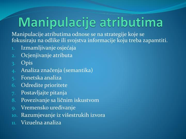 Manipulacije atributima
