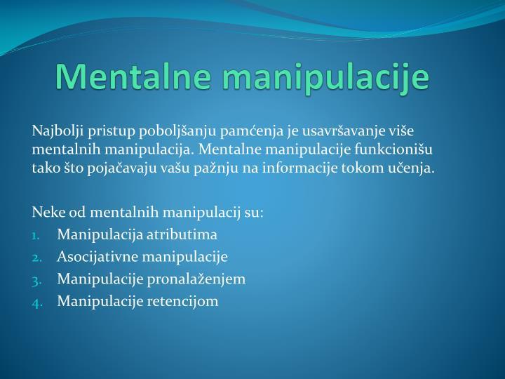 Mentalne manipulacije