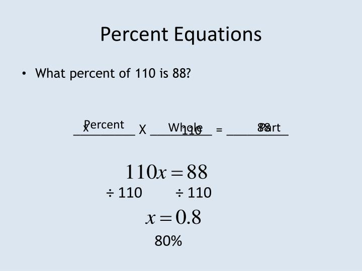 Percent Equations
