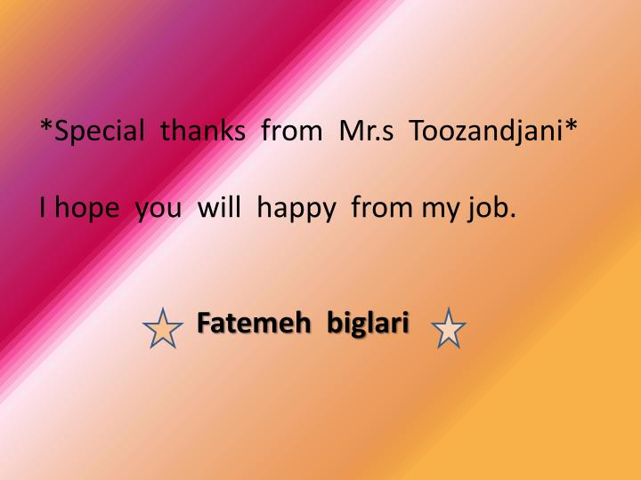 *Special  thanks  from