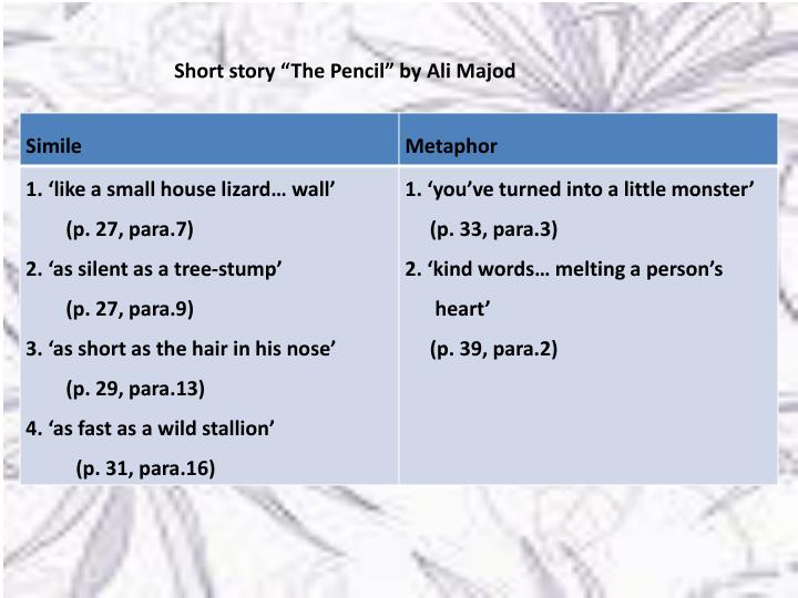 "Short story ""The Pencil"" by Ali"