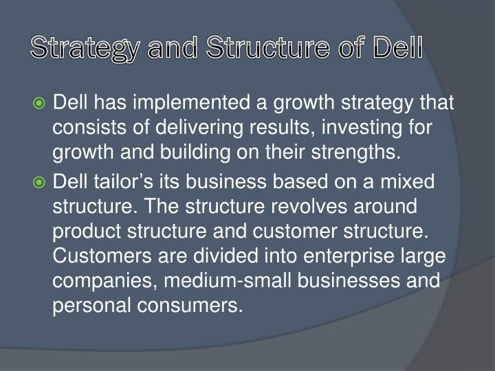 Strategy and Structure of Dell