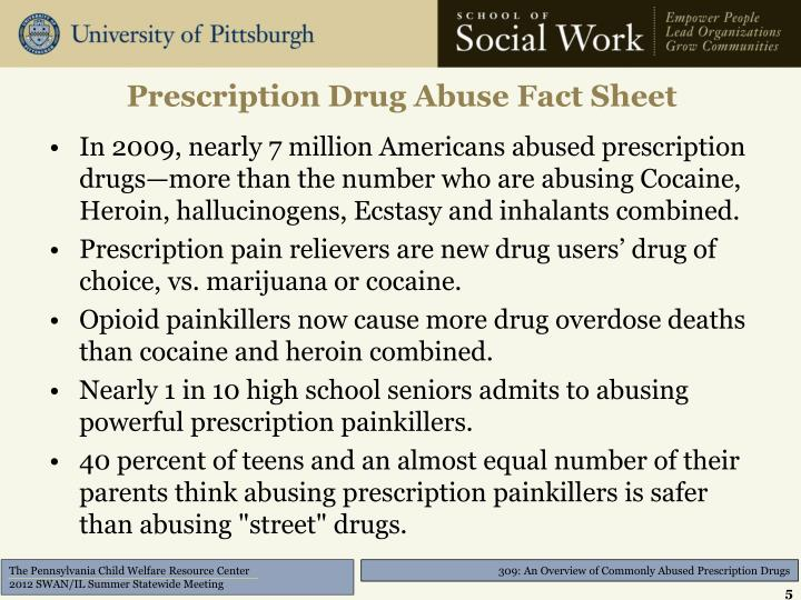 Prescription Drug Abuse Fact Sheet