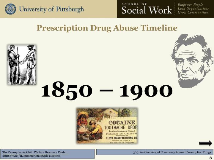Prescription Drug Abuse Timeline