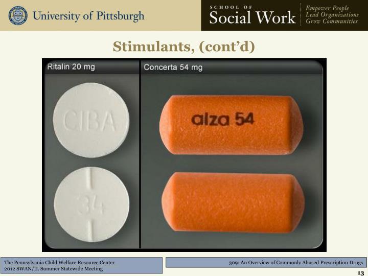 Stimulants, (cont'd)