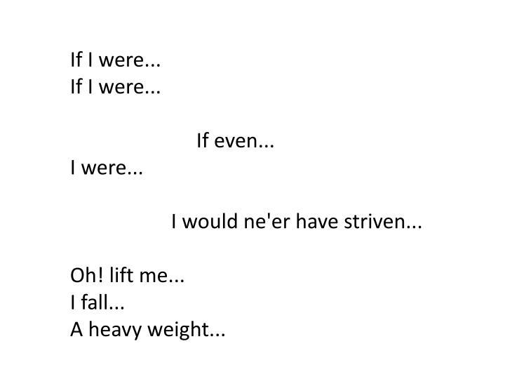 If I were..