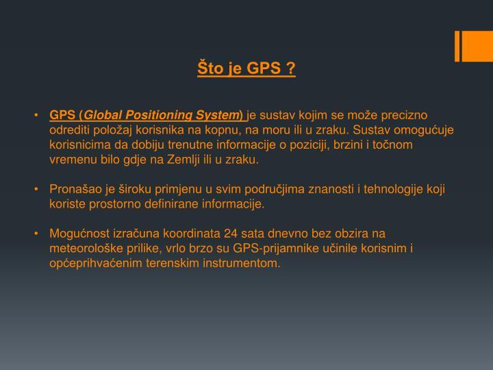 Što je GPS ?