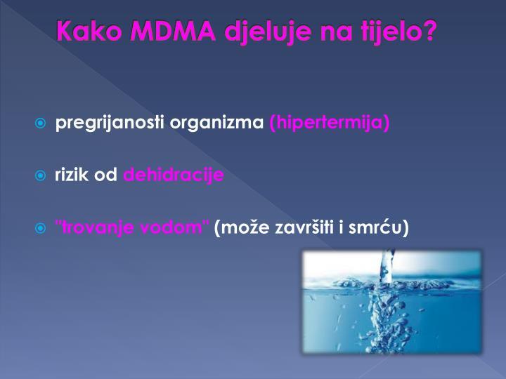 Kako MDMA djeluje na tijelo?
