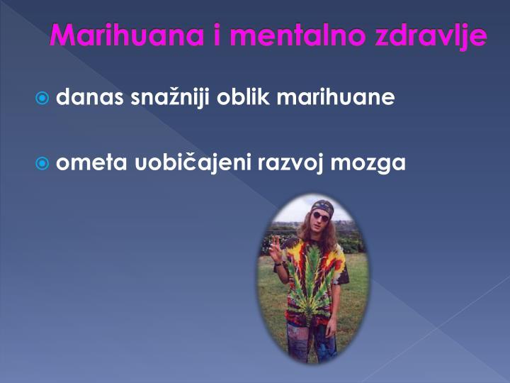 Marihuana i mentalno zdravlje