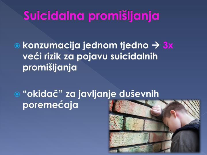 Suicidalna promišljanja