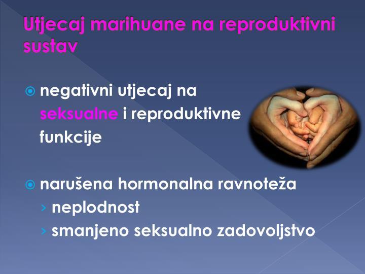 Utjecaj marihuane na reproduktivni sustav