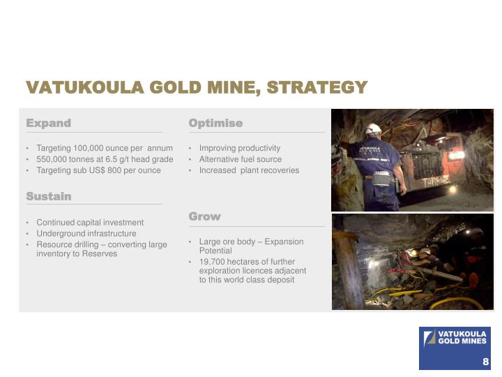 VATUKOULA GOLD MINE, STRATEGY