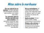 mitos sobre la marihuana
