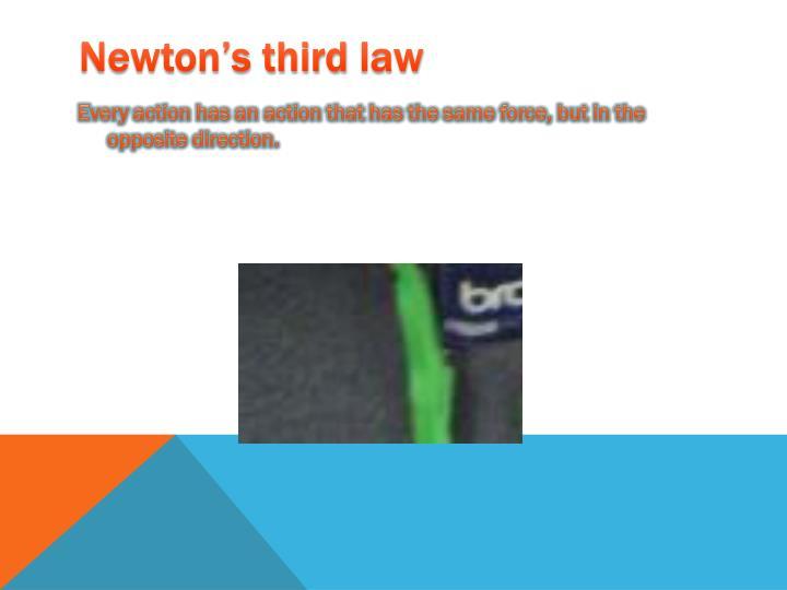 Newton's third