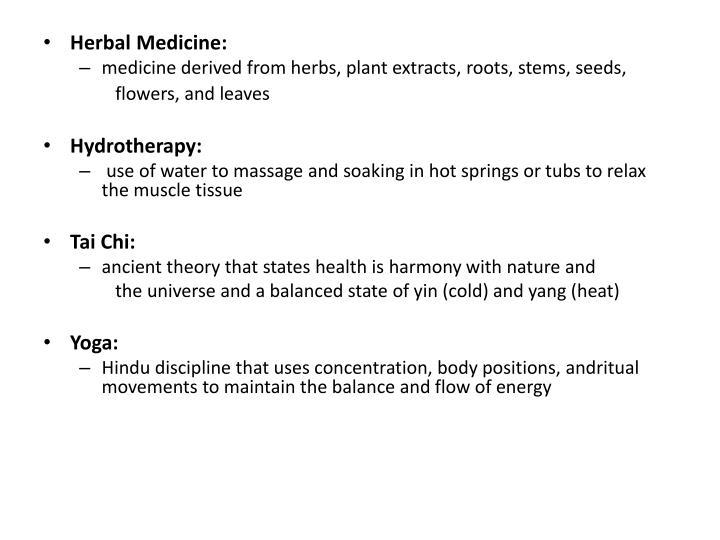 Herbal Medicine: