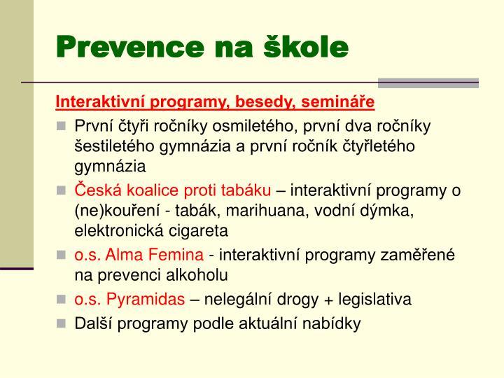 Prevence na škole