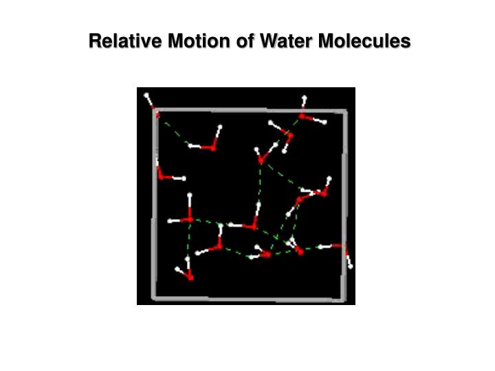 Relative Motion of Water Molecules