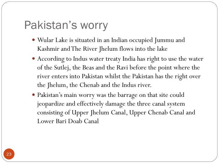 Pakistan's worry