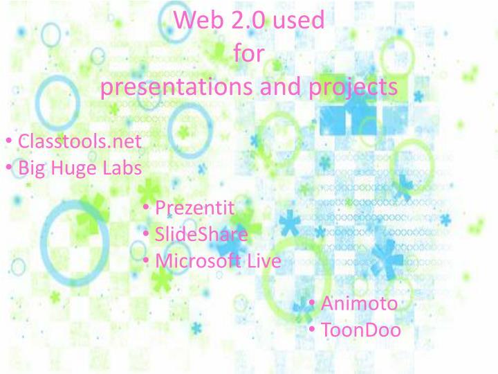 Web 2.0 used