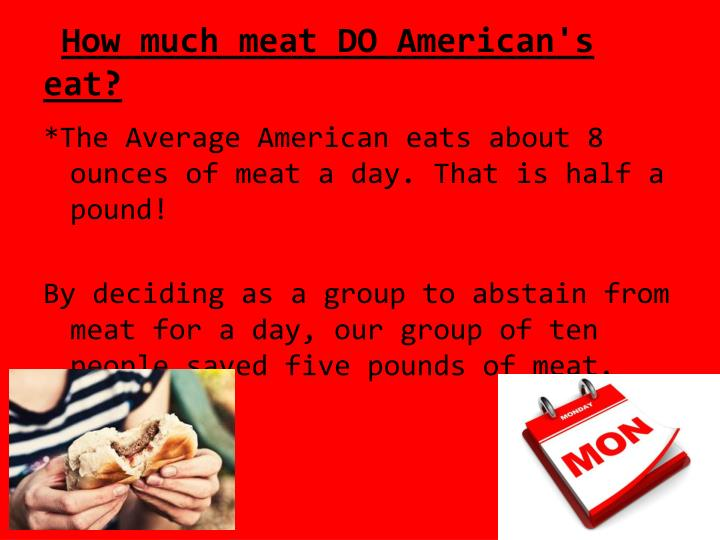 How much meat DO American's eat?