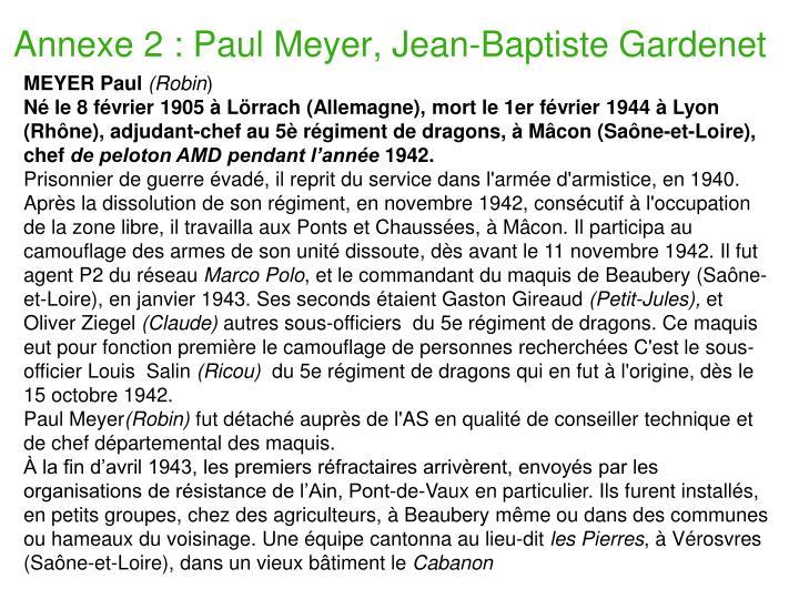 Annexe 2 : Paul Meyer, Jean-Baptiste