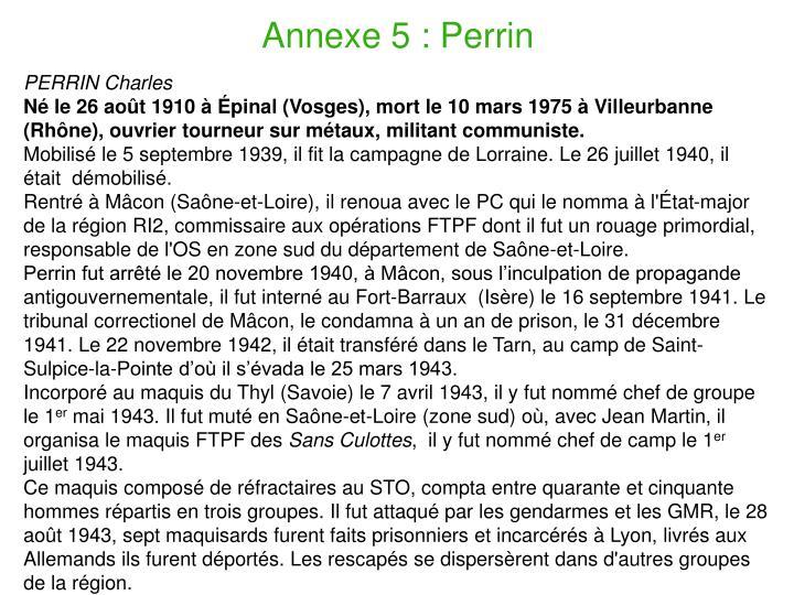 Annexe 5 : Perrin