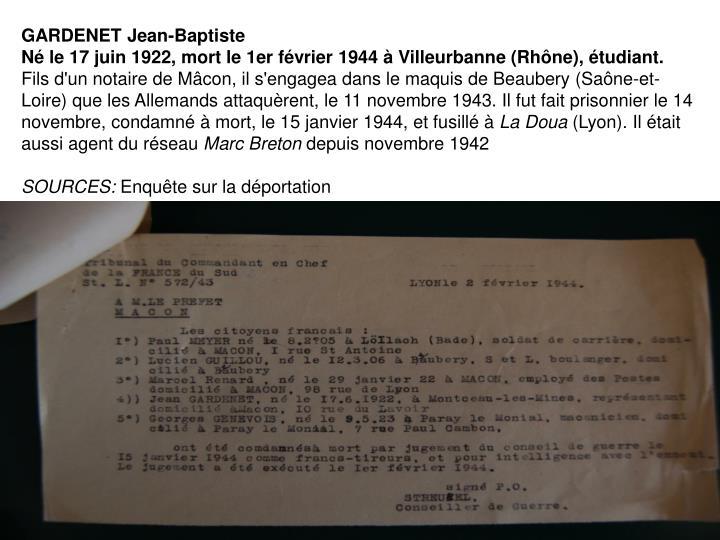 GARDENET Jean-Baptiste