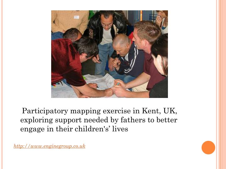 Participatory mapping exercise in Kent, UK, exploring support needed by fathers to better engage in their children's' lives