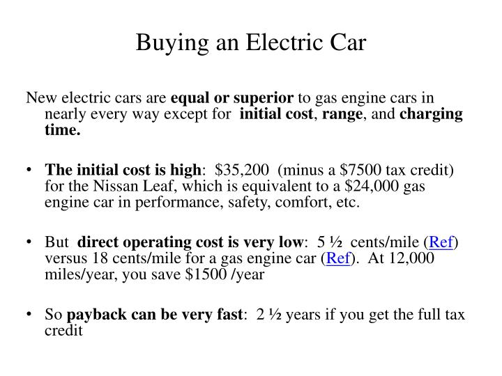 Buying an Electric Car