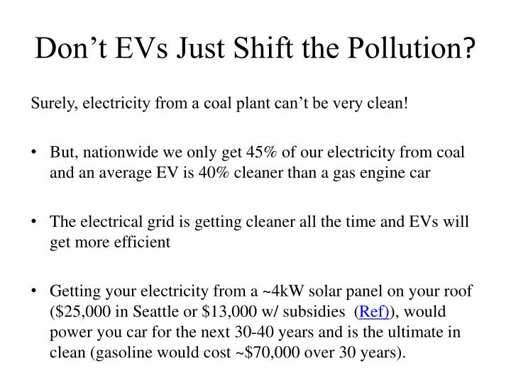 Don't EVs Just Shift the Pollution