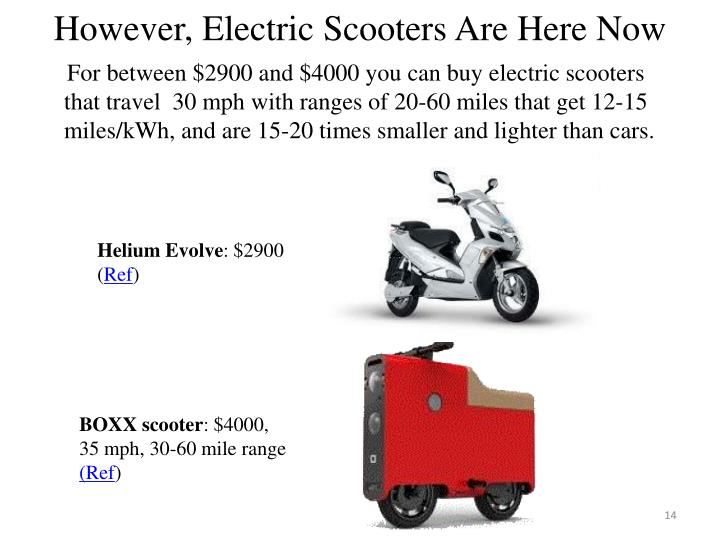 However, Electric Scooters Are Here Now