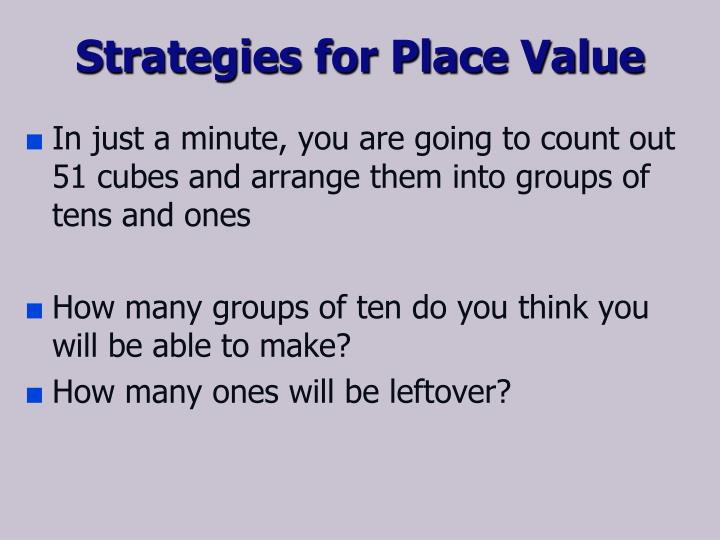 Strategies for Place Value