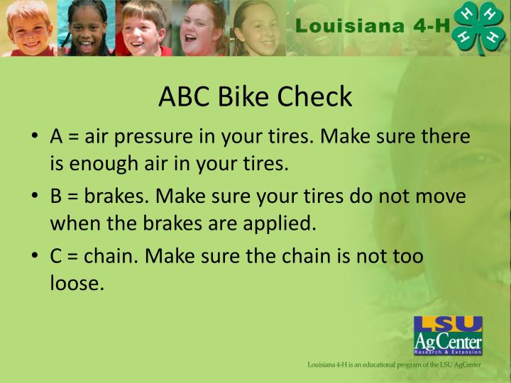 ABC Bike Check