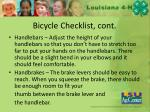 bicycle checklist cont