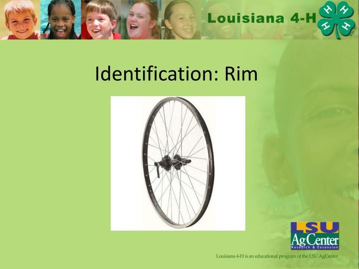 Identification: Rim