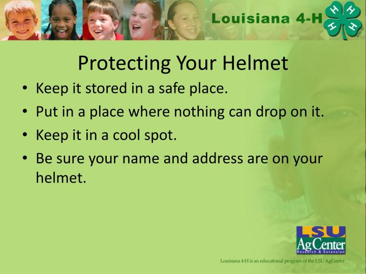 Protecting Your Helmet